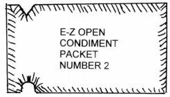 E-Z OPEN CONDIMENT PACKET NUMBER 2