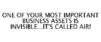 ONE OF YOUR MOST IMPORTANT BUSINESS ASSETS IS INVISIBLE...IT'S CALLED AIR!