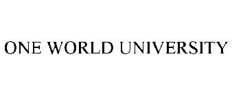 ONE WORLD UNIVERSITY