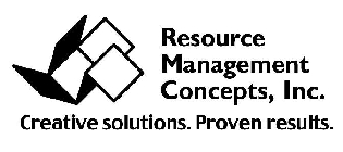 RESOURCE MANAGEMENT CONCEPTS, INC.  CREATIVE SOLUTIONS. PROVEN RESULTS.