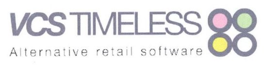 VCS TIMELESS ALTERNATIVE RETAIL SOFTWARE