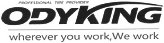 PROFESSIONAL TIRE PROVIDER ODYKING WHEREVER YOU WORK, WE WORK