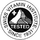 SWISS VITAMIN INSTITUTE SINCE 1931 TESTED