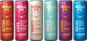 HERBAL FIX ACTIVE FIX MORE THAN YOUR THIRST GUARANA & BANANA ; HERBAL FIX LOVE FIX MORE THAN YOUR THIRST DRAGONFRUIT & STRAWBERRY ; HERBAL FIX BEAUTY FIX MORE THAN YOUR THIRST MANGO ; HERBAL FIX SHAPE
