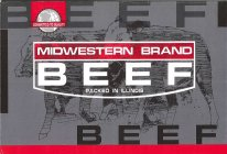 BEEF, BEEF, MIDWESTERN BRAND BEEF, COMMITTED TO QUALITY, PACKED IN ILLINOIS