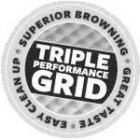 TRIPLE PERFORMANCE GRID SUPERIOR BROWNING GREAT TASTE EASY CLEAN UP