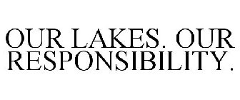 OUR LAKES. OUR RESPONSIBILITY.