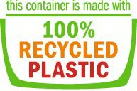 THIS CONTAINER IS MADE WITH 100% RECYCLED PLASTIC