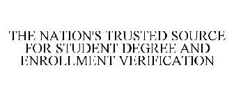 THE NATION'S TRUSTED SOURCE FOR STUDENT DEGREE AND ENROLLMENT VERIFICATION