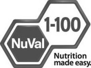 NUVAL 1-100 NUTRITION MADE EASY.