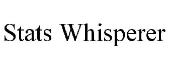 STATS WHISPERER Trademark of Bannon, William M