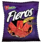 B BARCEL FIEROS FUEGO HOT CHILI PEPPER & LIME FLAVORED CORN SNACK