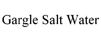 how to make salt water gargle