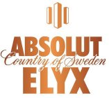 ABSOLUT COUNTRY OF SWEDEN ELYX