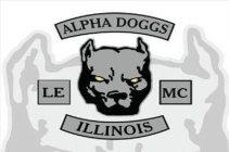 ALPHA DOGGS LE MC ILLINOIS Trademark of Alpha Doggs