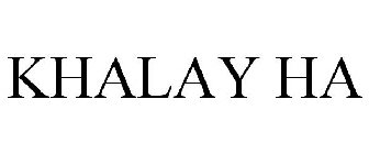 KHALAY HA Trademark Application of Convoy Therapeutics