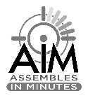 AIM ASSEMBLES IN MINUTES