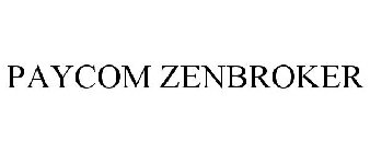 PAYCOM ZENBROKER Trademark - Serial Number 86692098