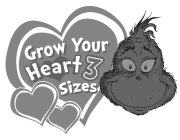 GROW YOUR HEART 3 SIZES