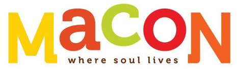 MACON WHERE SOUL LIVES Trademark of VISIT MACON, INC ...