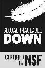 GLOBAL TRACEABLE DOWN CERTIFIED BY NSF