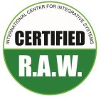 INTERNATIONAL CENTER FOR INTEGRATIVE SYSTEMS CERTIFIED R.A.W.