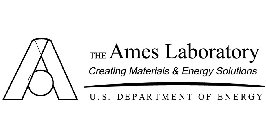THE AMES LABORATORY CREATING MATERIALS & ENERGY SOLUTIONS U.S. DEPARTMENT OF ENERGY
