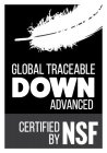GLOBAL TRACEABLE DOWN ADVANCED CERTIFIED BY NSF