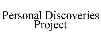PERSONAL DISCOVERIES PROJECT