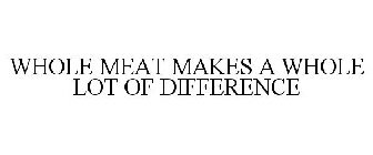 WHOLE MEAT MAKES A WHOLE LOT OF DIFFERENCE