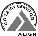 ISO 22301 CERTIFIED A-LIGN