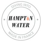 DIVING INTO H MPT N WATER MADE IN FRANCE