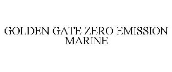 GOLDEN GATE ZERO EMISSION MARINE