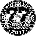 THE LEGEND LIVES ON 77TH EST. 1938 STURGIS MOTORCYCLE RALLY 2017