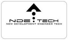 it start off with the words.      new development engineer tech with the acronym  NDETECH with three circles going up from small to medium to large and a pyramid on top pointing up