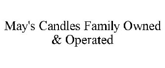 May's Candles Family Owned & Operated