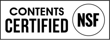 CONTENTS CERTIFIED NSF