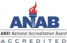 ANAB ANSI NATIONAL ACCREDITATION BOARD ACCREDITED
