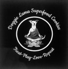 Doggie Lama Superfood Cookies and Treat, Play, Love, Repeat.