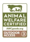 ANIMAL WELFARE CERTIFIED AWCGOODS.ORG OUTDOOR ACCESS 3