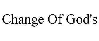 Change Of God's