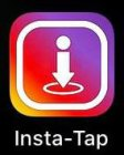"""""""Insta-Tap"""" is the name of the App itself and it appears on the base of of the logo/imagery itself."""