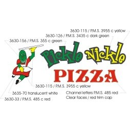 PICKLE NICKLE PIZZA 3630-115/P M S  3955 C YELLOW 3630-126