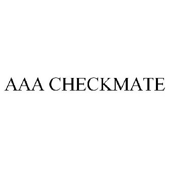 aaa checkmate AAA CHECKMATE Trademark of AAA-Checkmate, L.L.C. - Registration ...