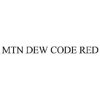 mtn dew code red trademark of pepsico inc registration number 4161395 serial number 85477992 justia trademarks justia trademarks