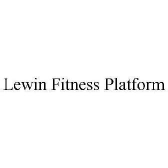 a2aab270a2 LEWIN FITNESS PLATFORM Trademark of Powell Stewart - Registration Number  5362700 - Serial Number 87233243    Justia Trademarks
