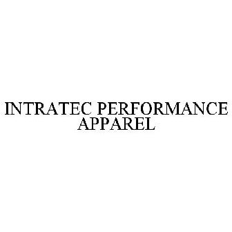INTRATEC PERFORMANCE APPAREL Trademark of Intradeco Apparel, Inc